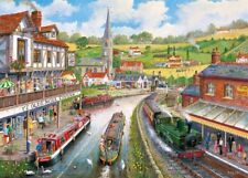 Gibsons - 500 XL BIG PIECE JIGSAW PUZZLE - Ye Olde Mill Tavern Steam Train