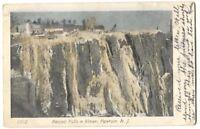 Postcard Passaic Falls in Winter Paterson NJ 1905