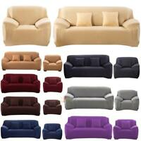 Stretch Chair Cover Sofa Covers Slipcover Solid 1 2 3 Seater Protector Couch