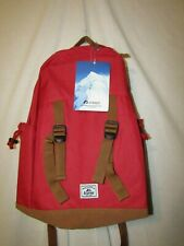 everest suede bottom backpack nwt red