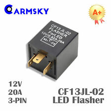 3-PIN LED Square Flasher Relay For Turn Signal Light Lamp 20A 12V CF13JL-02