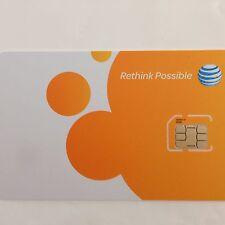 AT&T Micro SIM Card Postpaid /GoPhone Prepaid -3F,3G,4G,LTE,UICC-F SKU 40954 ATT