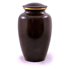 Adult Brass Cremation Urn with Black Granite Finish: Free Shipping