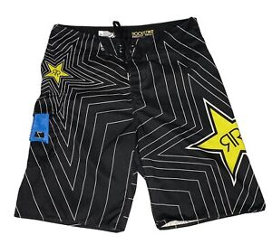 FOX Rockstar Energy Drink 30 Board Shorts Men's Swim Trunk Bottle Opener