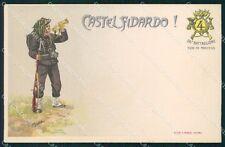 Militari IV Reggimento Bersaglieri Castelfidardo 26º Batt cartolina XF1243