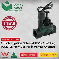 "1"" inch Irrigation Solenoid 12V DC /12VDC Latching 100LPM,Flow Control &Override"