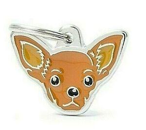 Chihuahua - Dog ID Tag  (23N) - Engraved FREE - Personalised Identity - Keyring