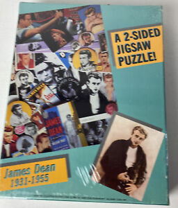 """James Dean 1931-1955 Jigsaw Puzzle NEW Sealed 2 Sided 500Pce 18""""x 23"""" REBEL 1985"""