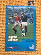 More details for england v greece - european international championship in 1983 at wembley