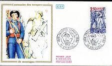 2543+ FDC ENVELOPPE  1er JOUR  CEF CENTENAIRE DES TROUPES DE MONTAGNE