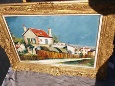 Elisee Maclet Oil Painting, Cityscape of France, Impressionism