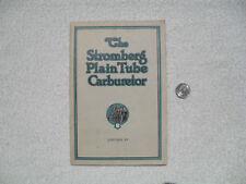 The Stromberg Plain Tube Carburetor Manual 1930 Edition IV Bendix Truck Nice