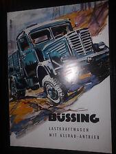 Prospekt Sales Broschure Büssing Lastkraftwagen Truck Camion Allrad Antrieb
