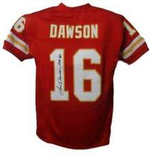 Len Dawson Autographed/Signed Kansas City Chiefs Red XL Jersey HOF JSA 14460