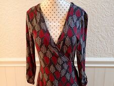 Women's grey and red White Stuff cross over dress size 8 - only worn once.