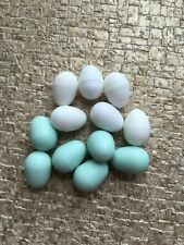 12 x Mixed  Plastic Budgie/Canary Eggs