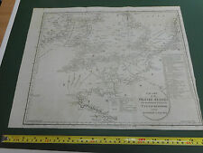 100% ORIGINAL  BRITISH/ENGLISH CHANELL COASTAL MAP BY J STAFFORD  C1808
