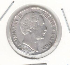Bayern  1/2 Gulden  1864  Maximilian II.  mit Henkelspur