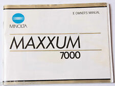 Minolta Maxxum 7000 Film Camera Manual Instruction Book - English - Used