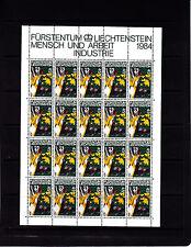 Liechtenstein Series courantes l'homme et le travail 45 r feuille 20 TP n° 794