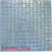Iridescent Clear Mosaic Glass Tile Kitchen F backsplash