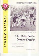 FC Union  Berlin OL 86//87 SG Dynamo Dresden 1