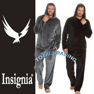 Mens Pyjamas  fleece super smooth loungewear with hood