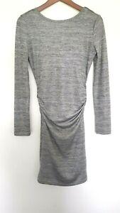 GUESS Designer Ladies Grey Slinky Stretch Bodycon Dress size S EUC
