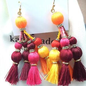 Kate Spade New York Women's Pretty Poms Tassel Statement Earrings - Multi Color
