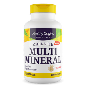Healthy Origins - Chelated Multi Mineral, Iron Free x 120 Vegetarian Capsules