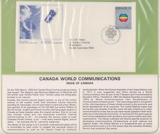 (K74-18)1983Canada FDC World Communications British Comm summerCollection &Pg(R)