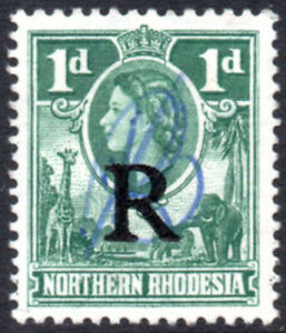 Northern Rhodesia Revenue 1953 1d green, Barefoot 7, used