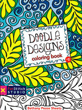 CLEARANCE  - Doodle Designs Coloring Book - coloring fun for adults