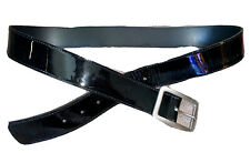 Authentic Tory Burch Black Patent Leather Belt Women's Reversible Large USA Made