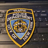 Vintage NYPD Traffic Division USED Off Uniform Patch Real Thing See Store More