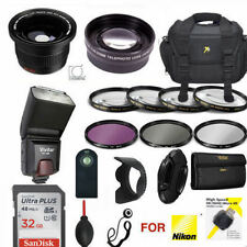 NIKON P900 32GBHD PRO KIT - CASE REMOTE FLASH FILTERS  ZOOM LENS WIDE ANGLE LENS
