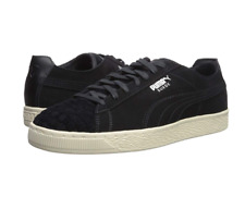 PUMA Men's Ferrari Suede Leather Stripe Sneaker | Black/White | Size 13 M
