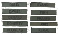 BRITISH ARMY NAME TAPE BADGES LETTERS D-K