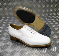 Genuine British Navy White Leather Parade / Dress Shoes Men/Woman`s - All Sizes