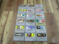 Super Famicom Gamecartridge Lot of 18 Piece Mario Kart SNES SFC Japan B712