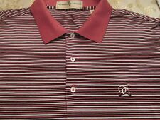 EYE CATCHING FAIRWAY & GREENE STRIPED SHIRT WITH LOGO SIZE XL/TG