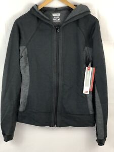 New Balance Womens Athletic Fleece Zip Front Hoodie Jacket Size Small