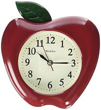 "Westclox 3D Apple Wall Clock 10"" Red / Green"