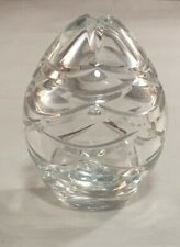 SIGNED FABERGE CLEAR CRYSTAL GLASS SWAG EGG DECORATIVE