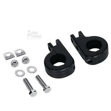Black Foot Peg Mounts Clamps for Harley Touring Male Peg Mount Engine Guard 1.25