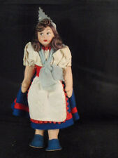 VINTAGE INTERNATIONAL CLOTH DOLL PAINTED FACE TRADITIONAL DRESS ITALY JOINTED