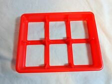 MEMORY Replacement Game Parts RED PLASTIC TRAY Card Holder 6 Section