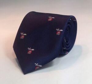 Shriner Scimitar & Crescent Woven Necktie - Navy/Red (SSC-NT-NR)