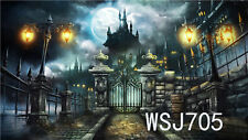 7X5FT Polyester Background Backdrop Washable Photo Props Halloween Castle WSJ705