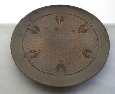 Mind Blowing ARTS and CRAFTS Art Nouveau COPPER PLATE Hand Hammered RICH PATINA
